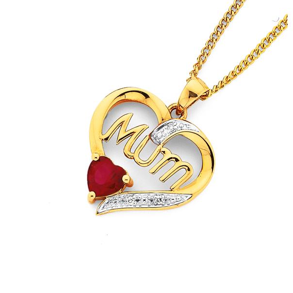 Created Ruby & Diamond Heart