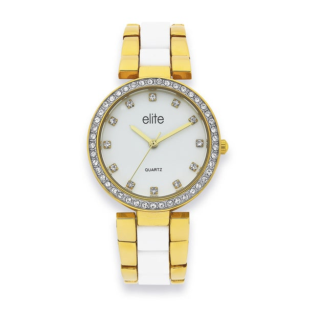 elite Ladies Gold Tone Watch