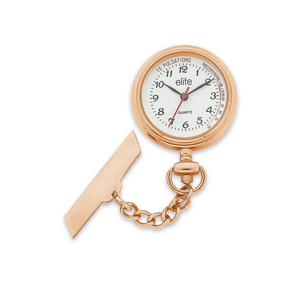 Elite Ladies Rose Tone Nurses Watch