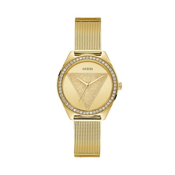 Guess Ladies Tri Glitz Mesh Strap Watch