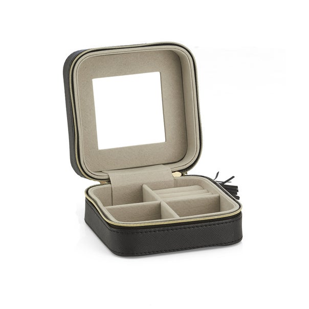 Isabella Black Travel Square Jewellery Box