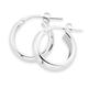 Silver 10mm Half Round Hoop Earrings