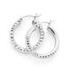 Silver 15mm Diamond Cut Hoop Earrings