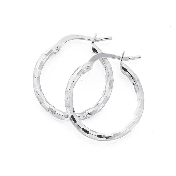 Silver 15mm Satin Shiny Hoops