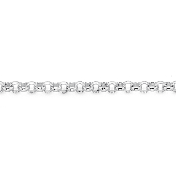 Silver 19cm Belcher Bracelet