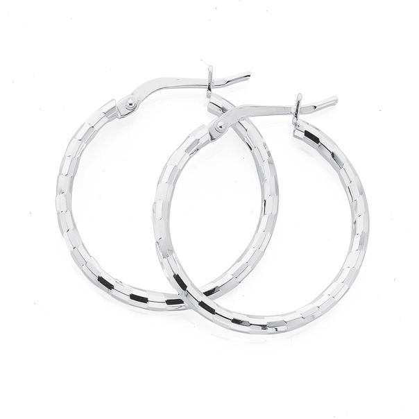 Silver 20mm Satin Shiny Hoops