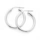 Silver 3X20mm Tube Hoop Earrings