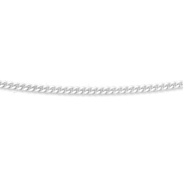 Silver 45cm Medium Curb Chain