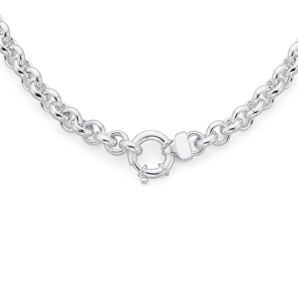 Silver 50cm Belcher Necklace