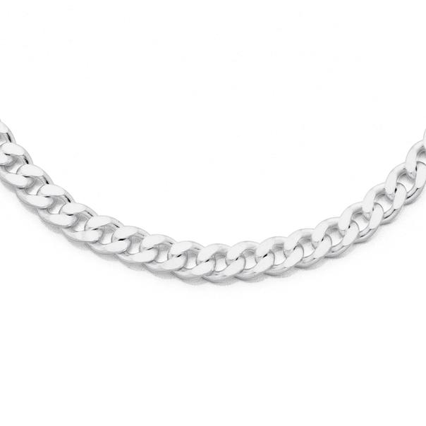 Silver 50cm Curb Chain
