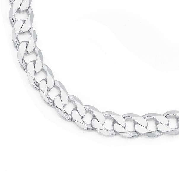 Silver 50cm Diamond Cut Curb Chain