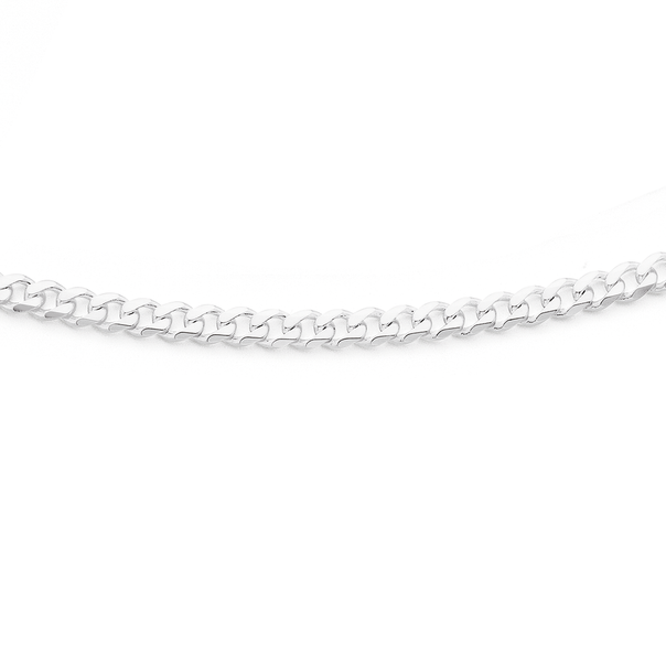 Silver 55cm Curb Chain