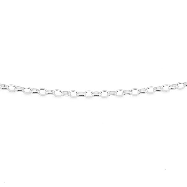 Silver 60cm Oval Belcher