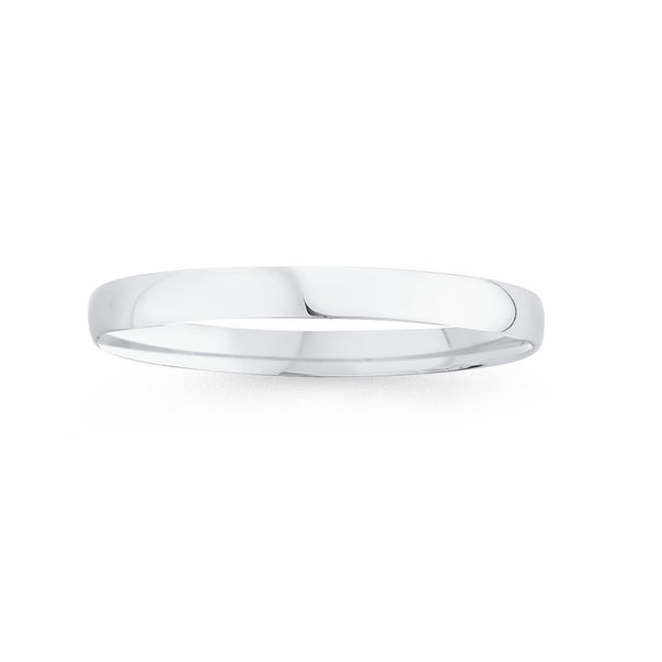 Silver 60mm 7mm Round Solid Comfort Bangle