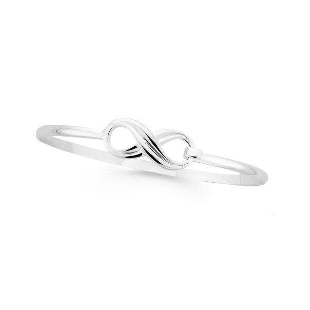 Silver 65mm Infinity Hoop Top Bangle
