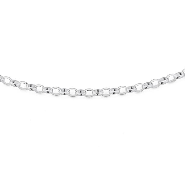 Silver 70cm Oval Belcher Chain