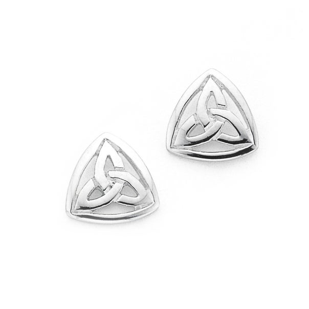 Silver Celtic Studs