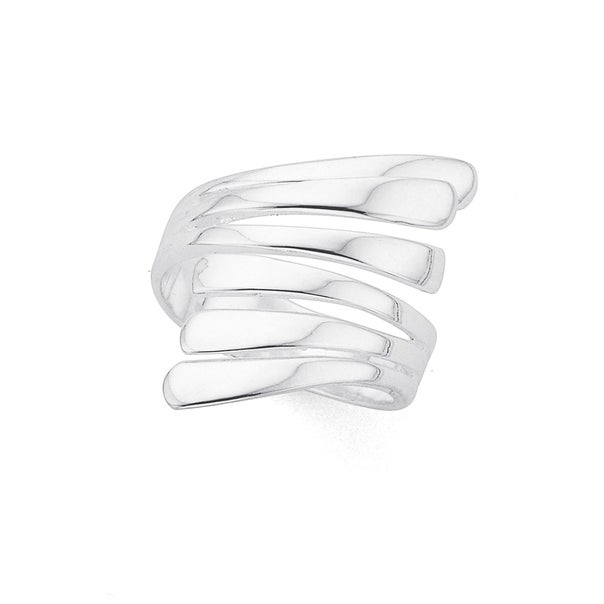 Silver Crossover Ring