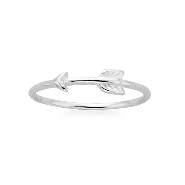 Silver Fine Side Arrow Dress Ring