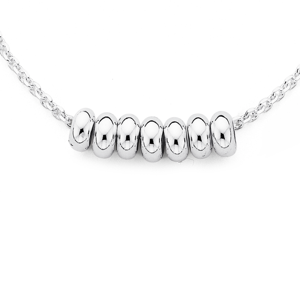 Silver Mini Lucky Rings Necklet