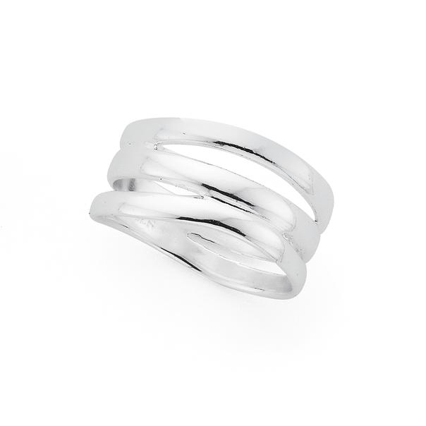Silver Ripple Ring