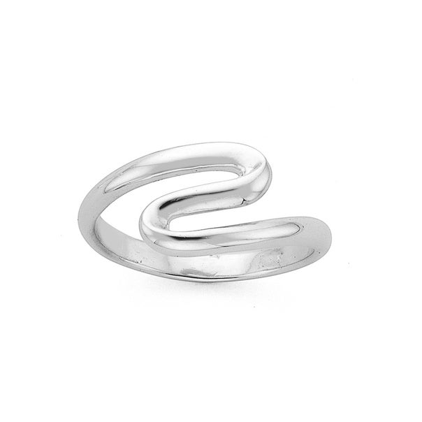 Silver S Shape Ring