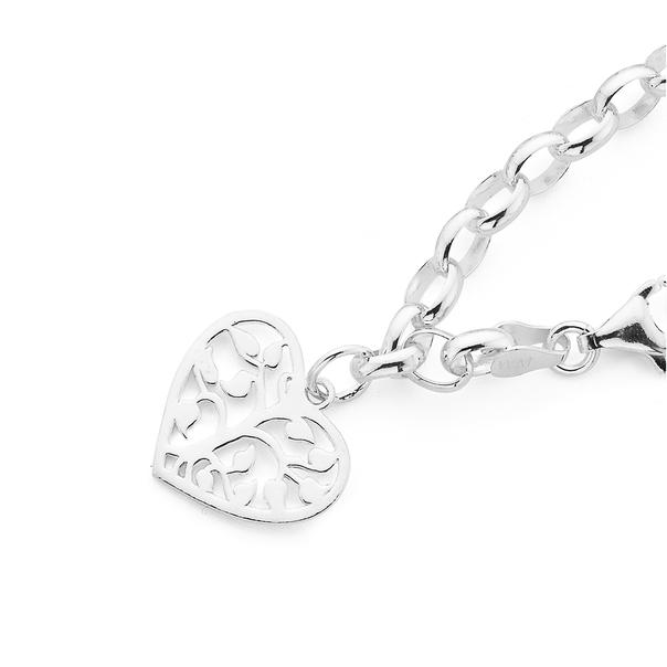 Silver Tree of Life Charm Bracelet