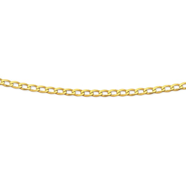 Solid 9ct Gold, 45cm Curb Chain