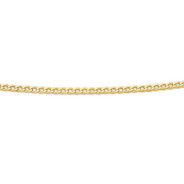Solid 9ct Gold, 45cm Oval Curb Chain