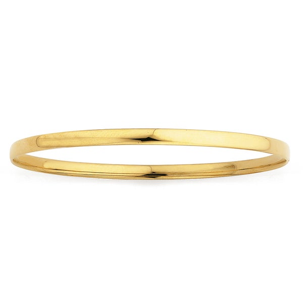 Solid 9ct Gold, 4x65mm Wide  Bangle