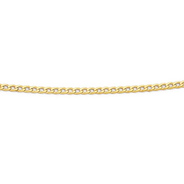 Solid 9ct Gold, 50cm Oval Curb Chain