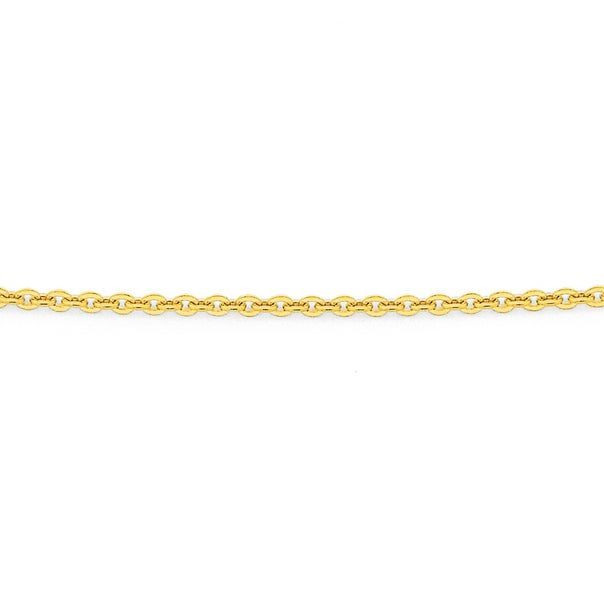 Solid 9ct Gold, 50cm Trace Chain