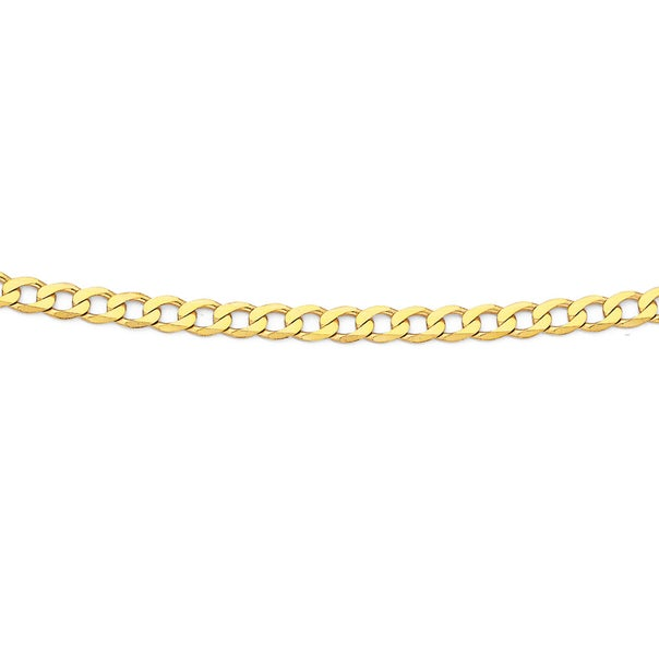 Solid 9ct Gold, 55cm Curb Chain