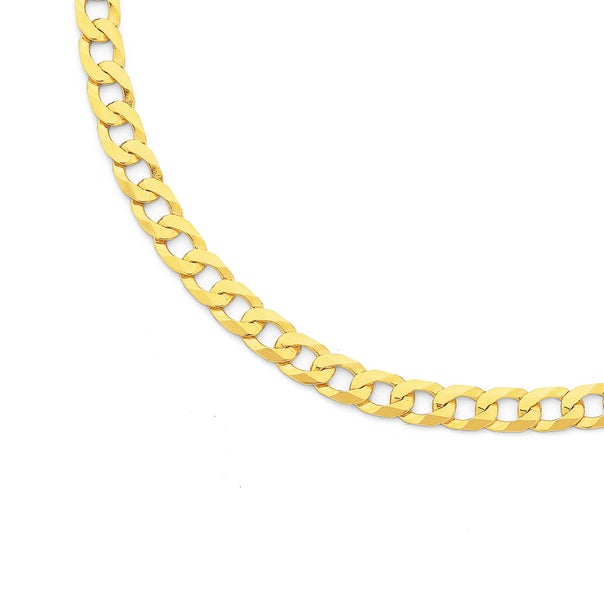 Solid 9ct Gold, 60cm Curb Chain