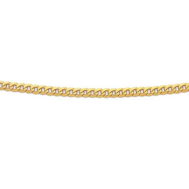 Solid 9ct Gold, 60cm Flat Curb Chain