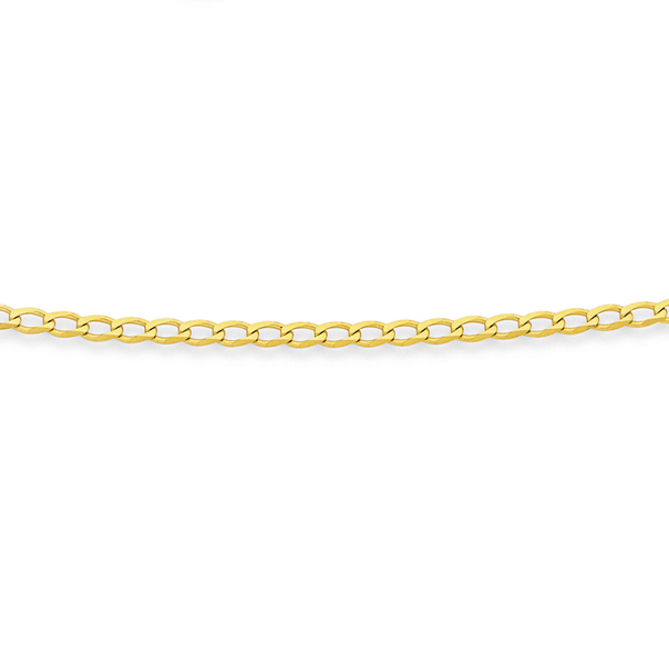 Solid 9ct Gold Open Curb Chain