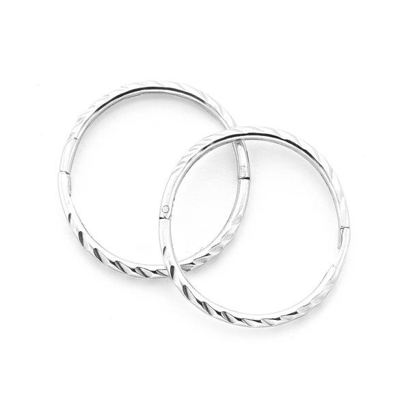 Sterling Silver 14mm Large Twist Sleepers