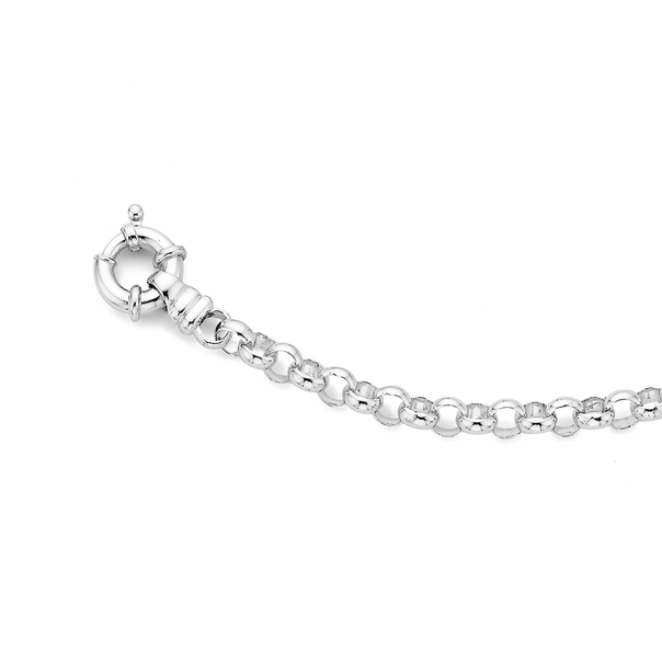 Sterling Silver 19cm Belcher Bolt Ring Bracelet