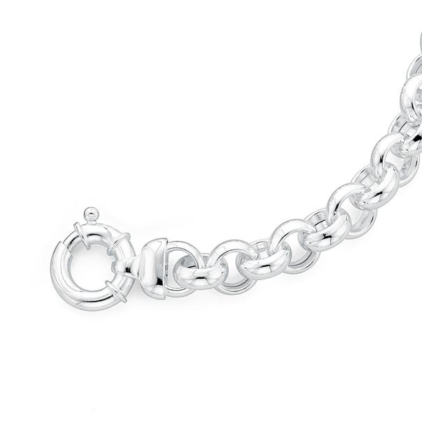 Sterling Silver 20cm Belcher Bracelet