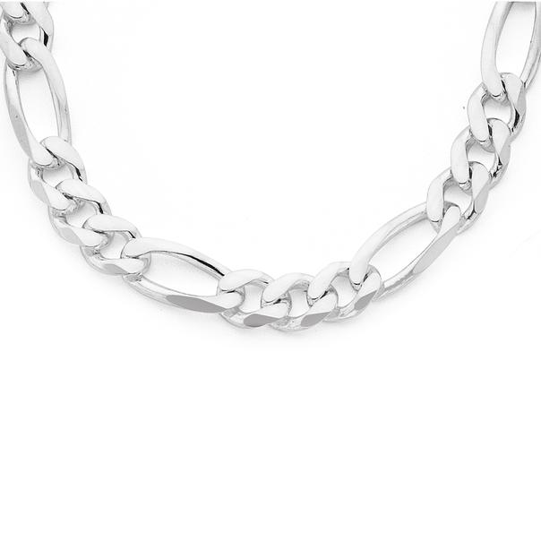 Sterling Silver 50cm Figaro Chain