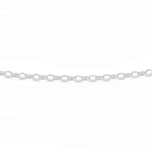 Sterling Silver 50cm Oval Belcher Chain