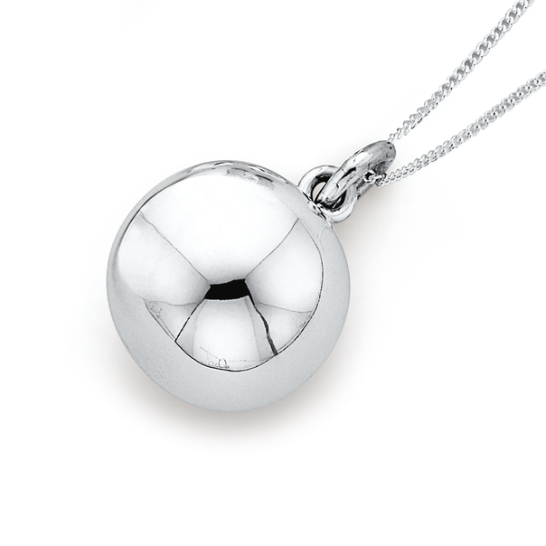 Sterling Silver 8mm Harmony Ball Pendant