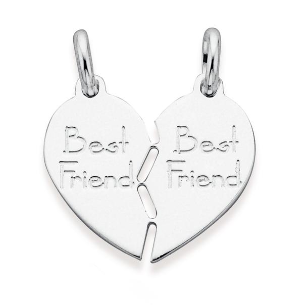 Sterling Silver 'Best Friends' Pendant