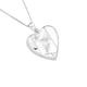 Sterling Silver Butterfly Heart Locket