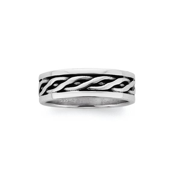 Sterling Silver Celtic Weave Ring (size U)