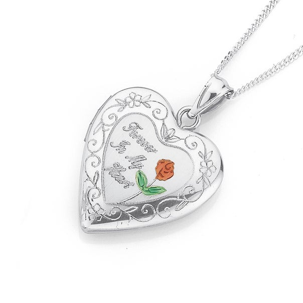 Sterling Silver Forever In My Heart Locket