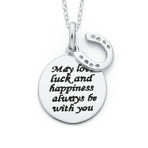 Sterling Silver Love, Luck & Happiness Pendant