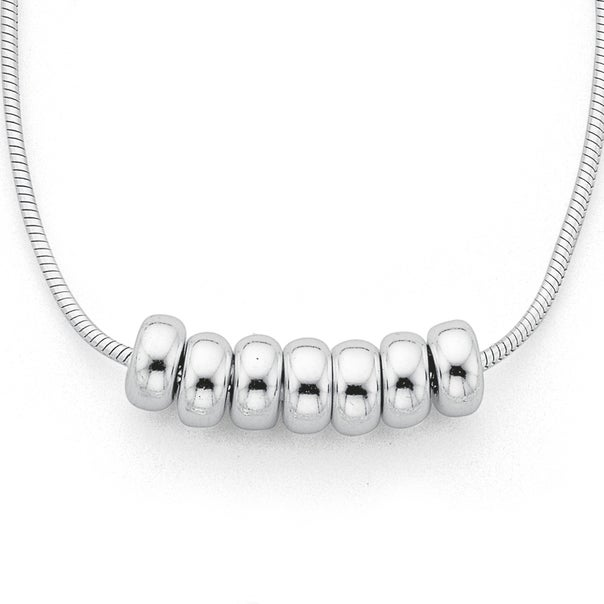 Sterling Silver Lucky rings Necklet