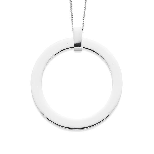 Sterling Silver Plain Circle Pendant