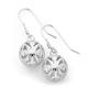 Sterling Silver Scroll Ball Earrings
